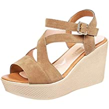 Sandalias de Vestir Plataforma tacón Alto de Playa para Mujer 70caf7237899