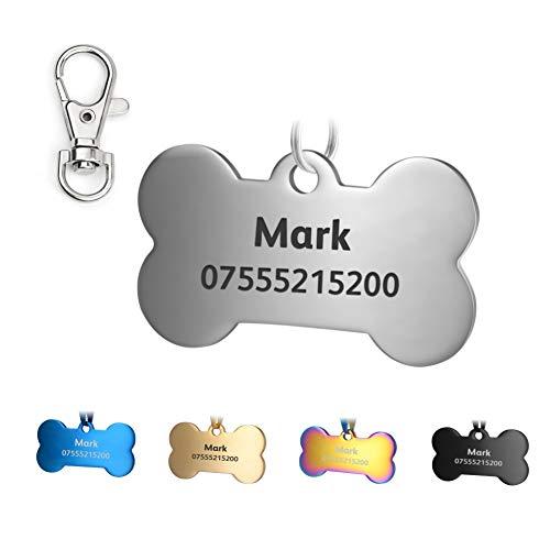 KSZ Acciaio Inox Pet ID Etichette Etichette e del Cane Gatto Etichette Personalizzato. Anteriore e Posteriore Engraving. Vari Colori