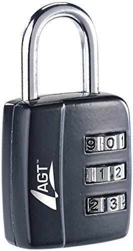 Preisvergleich Produktbild AGT Gepäckschloss: Reise-Koffer- & Gepäck-Schloss, 3-stelliger Zahlencode, 29 mm (Minischloss)