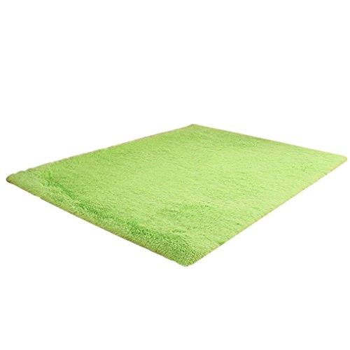 zjene nuevo suave alfombras Shaggy antideslizante área alfombra comedor hogar dormitorio alfombra Felpudo, Verde, 50 x 80cm/19.68x31.49inch