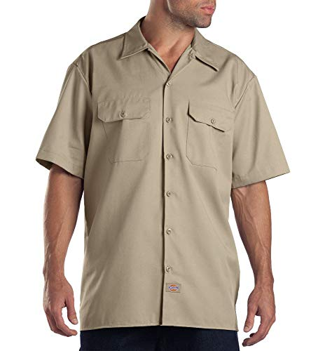 Dickies Herren Regular Fit Freizeit Hemd Shrt/S Work Shirt, Kurzarm, Beige (Khaki KH), Gr. X-Large (Herstellergröße: XL)