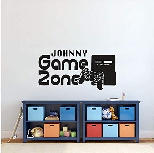 Lvabc Gamer Wandaufkleber D Name Spiel Zone Wandtattoo Videospiel Controller Tapete Kinder Schlafzimmer Vinyl Wandkunst Aufkleber 42X83 Cm