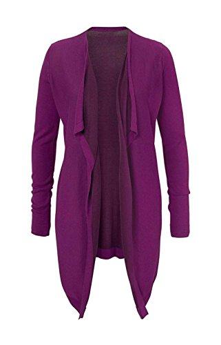 CORLEY Damen-Jacke Asymmetrische Strickjacke Violett Größe 36
