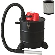 grafner® aspirador de ceniza con ruedas 20litros, 1200W, con filtro HEPA y de succión y función de soplado aspirador parrilla Chimenea de pellets Aspiradora HEPA Fein filtro