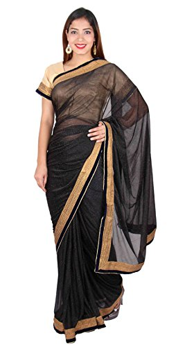 Desi Sarees Damen Indian Bollywood Kostüm Party Saree 7271 (Bollywood Themen Kostüm Party)