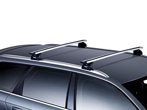 Thule Aero wingbars Dachträger Schienen Bars Fiat 500x bis 2015, ab | mit Flush Rails