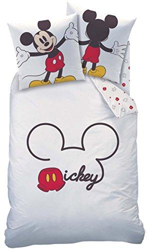 Ropa de cama Mickey Mouse Blanco Rojo 135x 200cm, 80x 80cm