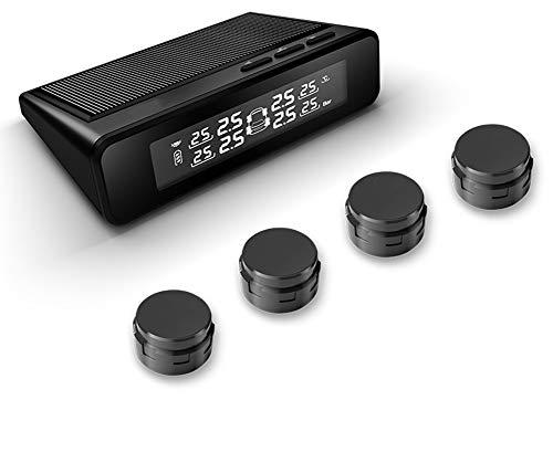 Drahtloser Solar-Reifendruckprüfer, hochpräzise Farbbildschirm-Digitalanzeige, für alle Modelle geeignet (0-8 Bar),Externalsensor
