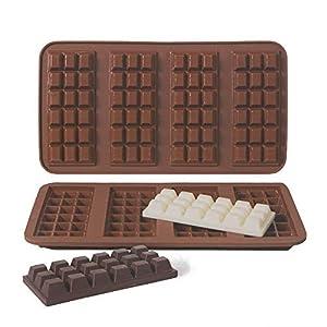 webake Silikon Schokoladenform 2er Set Formen aus hochwertigem Platinsilikon für Schokoladen Herstellen Party-Schokolade
