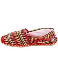 Reservoir Shoes - Espadrille pas chère homme Reservoir Shoes Rayure Rouge