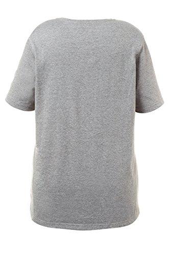 Ulla Popken Femme Grandes tailles Pyjama femmes deux pièces confort manches courtes pantalon 710066 gris chiné