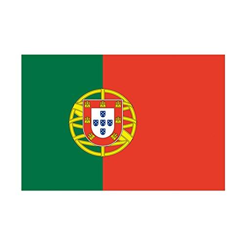 Taffstyle® Fanartikel Fussball Weltmeisterschaft WM & EM Europameisterschaft 2016 Länder Flagge Fahne 150cm x 90 cm mit Metallösen - Portugal