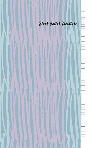 Blank Guitar Tablature: Blank Guitar Tab paper, Standard Staff & Tablature Featuring Twelve 6-Line Tablature Staves Per Page With a