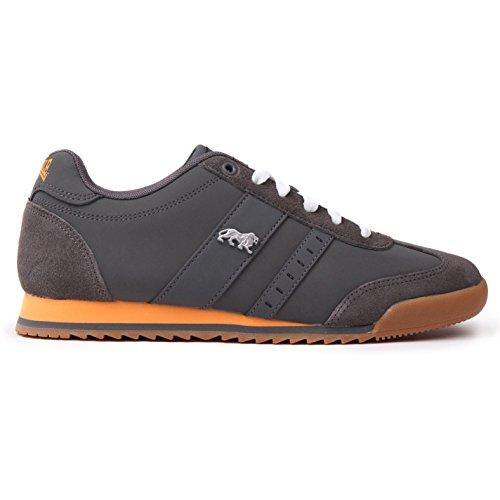 Lonsdale Herren Lambo Turnschuhe Freizeit Sneaker Schnuerschuhe Sport Schuhe Grau 9 (43)