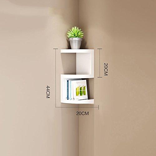 Rack Xia Holz Bücherregal 6 Tier Regale Bücherregal Einheit S Form Weiß Wandständer Speicher Display Home Office (Größe : 3-Schicht) (6-tier-bücherregal)