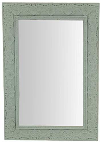 my-goodbuy24 - Espejo de Pared con Adornos (38 x 27 cm, Madera), diseño Vintage