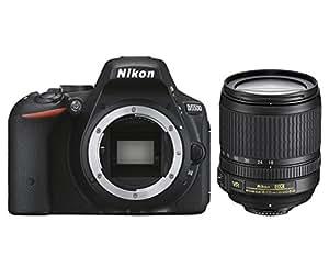 Nikon D5500 + Nikkor 18-105 VR Fotocamera Reflex Digitale, 24,2 Megapixel, LCD Touchscreen Regolabile, Wi-Fi Incorporato, Nero [Versione EU]