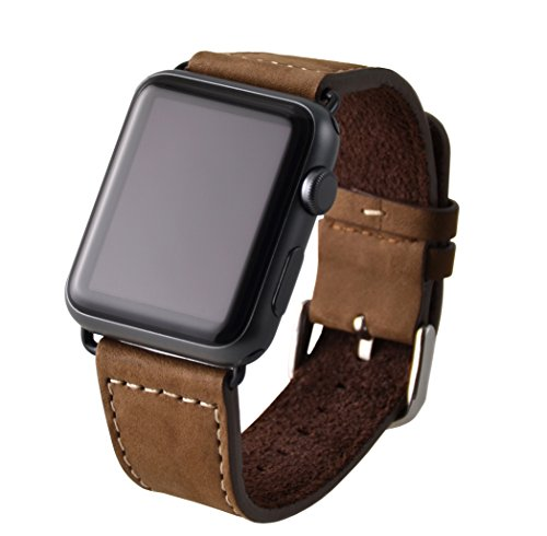 Produktbild VAPIAO Apple Watch 42mm Lederarmband für Series 1 / Series 2 / Series 3 in braun