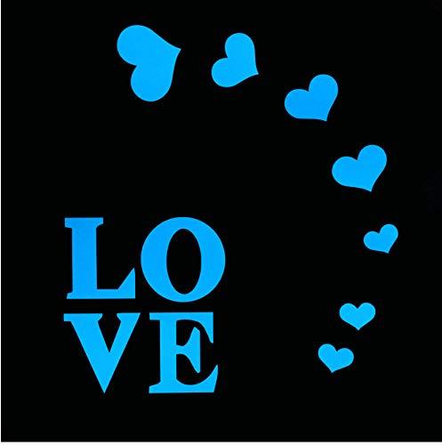 (Liebe Herzen Leuchtende Wandaufkleber Wohnkultur Fluoreszierende Aufkleber Mädchen Zimmer DIY Dekoration Im Dunkeln Leuchten Romantische Aufkleber 5 Stücke)