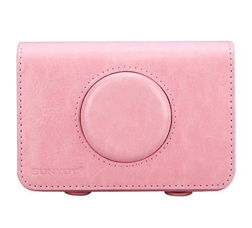SUNYOY PU Leder Tasche für Polaroid Snap Touch Sofortbild Kamera (Rosa) (Polaroid Kamera Rosa)