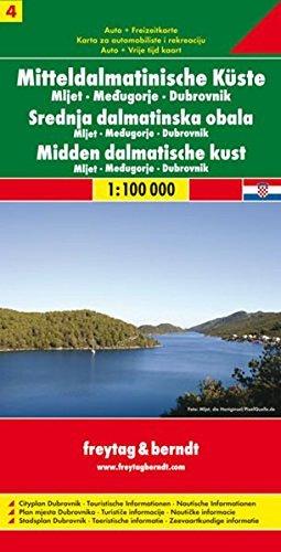 Sheet 4, Middle Dalmatian Coast/Mljet/Medjugorje/Dubrovnik by Freytag-Berndt und Artaria (1997-12-01)