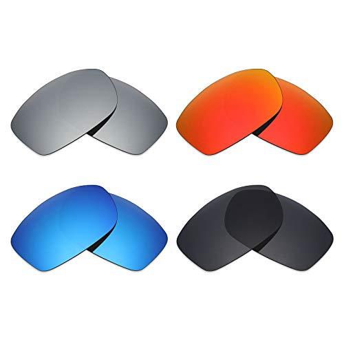 MRY 4Paar Polarisierte Ersatz-Objektive für Costa del Mar Zane sunglasses-stealth schwarz/fire rot/ice blau/Smaragd Grün