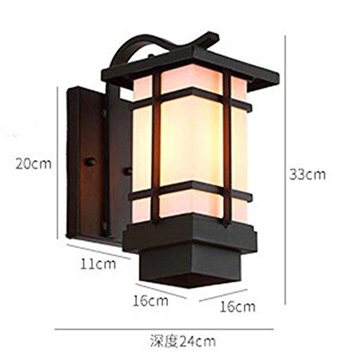 MMYNL Moderne Antik Wandlampe Vintage Wandlampen Wandleuchten für Schlafzimmer Wohnzimmer Bar Flur Bad Küche Wasserdichte Außenwand im Freien japanische Gartenleuchte Wandleuchte