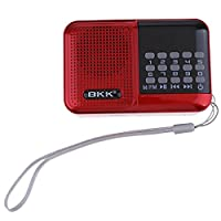 MagiDeal Portable Digital FM Radios Big Button Stereo Speaker Mp3 Music Player SD/TF Card Free Shipping