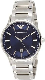 Emporio Armani Mens Quartz Watch, Analog Display and Stainless Steel Strap, AR11180