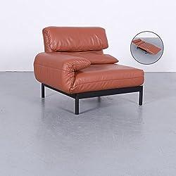 Rolf Benz Plura Designer Leder Sessel Rot Orange Sofa Modul Funktion Echtleder #5564