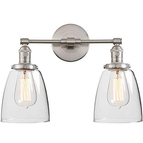 Aplique Espejo Baño Vintage 2 Luces Interruptor Industrial