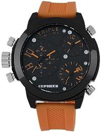 CEPHEUS Herren-Armbanduhr XL Analog Quarz Silikon CP902-620B