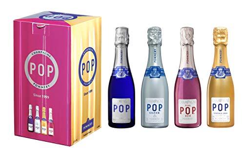 Champagne Pommery POP 4 qualités - 4x20cl - Sous coff