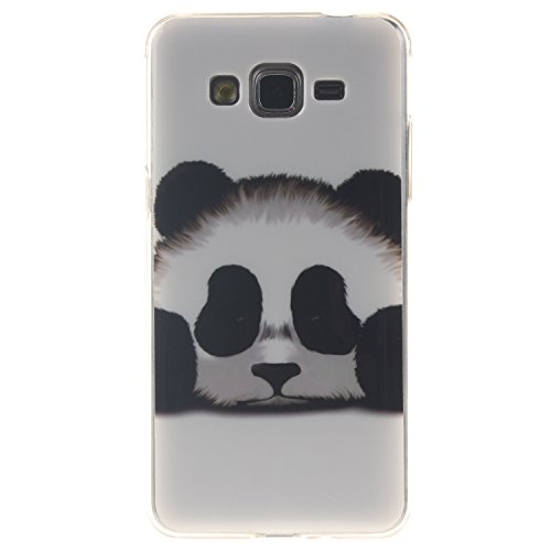 Guran® Ultra Mince Silicone TPU Gel Cover Étui pour Samsung Galaxy Grand Prime G530 Smartphone Coque de Protection - panda