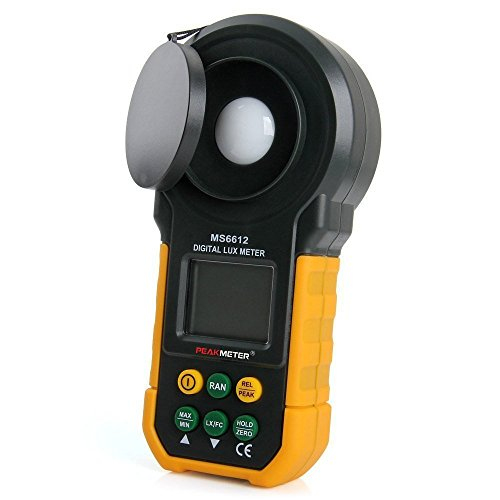 Protmex MS6612 Digital Luxmeter Photometer Beleuchtungsstärke LCD Display Lichtmesser 2000 Counts 0-200000 Lux/0-20000FC Lux/FC Meters Luminometer Mit Auto Manual Range, Max/Min