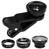 Objectif de Lentille Caméra pour Téléphone Portable Fisheye Grand Angle Macro Lens Clip Mallalah pour iPhone Samsung Galaxy Note