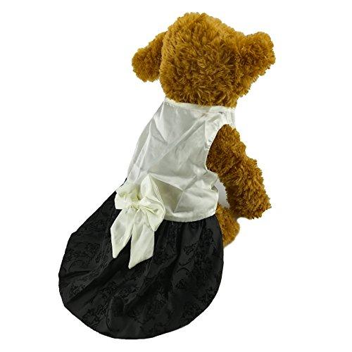 Newtensina Stilvolle Hunde Kleid Hund niedliche Mädchen Kleider Kleidung Welpen Kleider für kleine Hunde