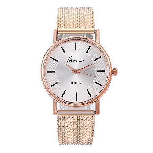 LILICAT Elegant Wasserdicht Uhren Damen Analog Quarzglas Uhr Edelstahl Wasserdicht Einfache Quarzuhr Geschäft Klassisch Kleid Uhren Mesh Uhr Datum Kalender