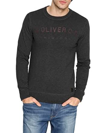 s.Oliver Herren Pullover 13.311.61.3448, Gr. 56/58 (XXL), Schwarz (9999)