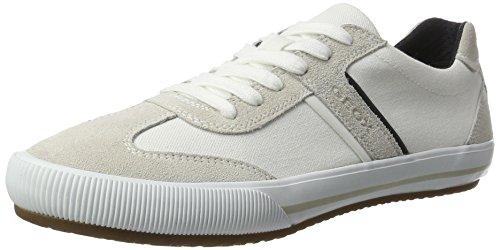 sports shoes 6bbc4 a4e14 Geox U Dart R, Scarpe da Ginnastica Basse Uomo, Bianco (Whitepapyrusc1z1s