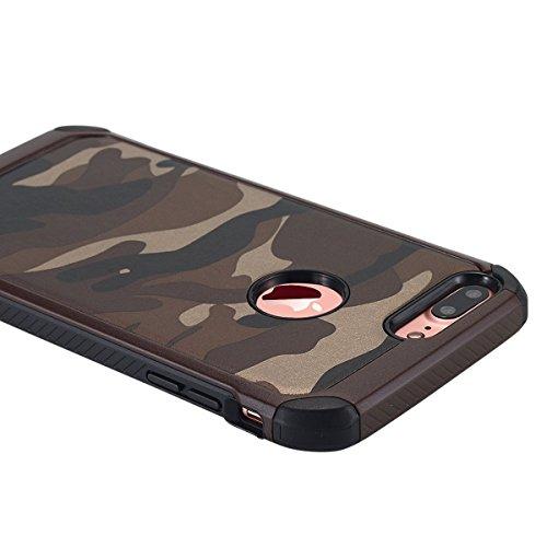 iPhone 6 hülle, iPhone 6s Holster hülle Flip nach oben und unten Handy hülle Premium PU Leder Tasche Flip Case Etui Handy Schutz Hülle für Apple iPhone 6 / 6s - Braun Braun 3