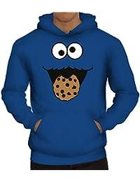 Lustiger Herren Kapuzenpullover Blue Monster