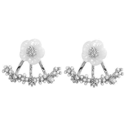 Pendiente Margarita Perno Regalo De La Flor De La Moda De Las Señoras Rhinestone Cristalino Del Oído Clásico