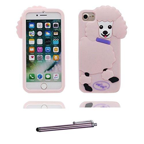 "iPhone 7 Handyhülle, Cover iPhone 7 Hülle (4.7""), 3D Shiba inu Dog Gummi-Gel-Shell TPU flexibles Shell iPhone 7 case (4.7"") Staub Kratzer beständig und Touchstift # 2"
