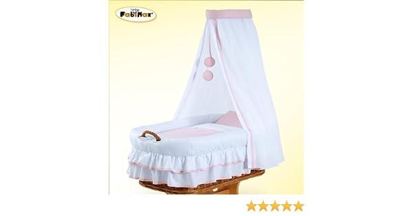 Fabimax textile ausstattung für stubenwagen hanna rosa teilig