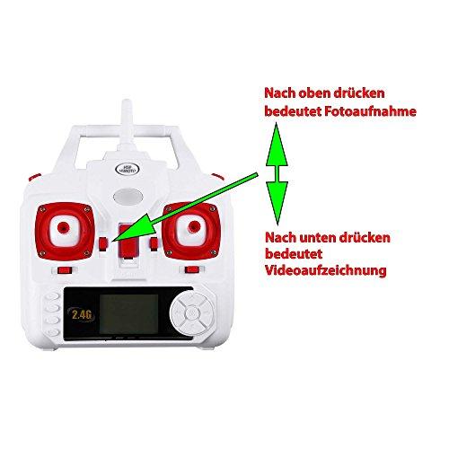 X5HC PRO - 4.5-Kanal Drohne Quadrocopter mit HD Kamera, Höhenbarometer, Headless, opt. WIFI FPV, 2x Akku, Zubehör, Crash-Kit - 7