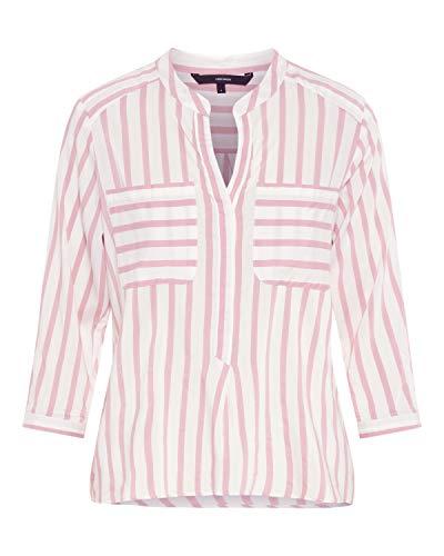 VERO MODA Damen Bluse VMERIKA Stripe 3/4 Shirt E10 NOOS, Mehrfarbig (Snow White Foxglove), 38 (Herstellergröße: M)