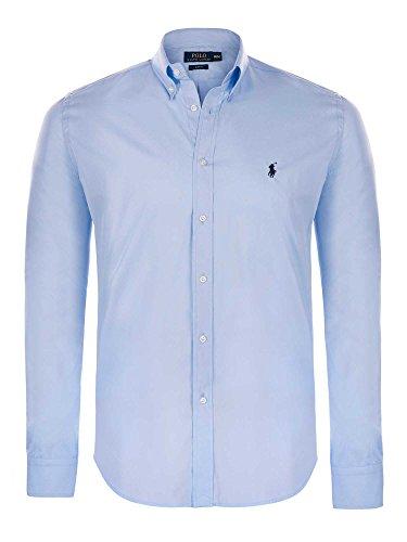 Ralph Lauren camicia da uomo Slim Fit a maniche lunghe Blau m