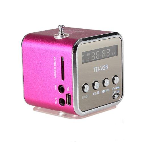 TD-V26 Tragbare Mini Digital Stereo Lautsprecher Speaker Sprecher Mp3 Musik Player FM Radio Micro SD TF Off Volume Control