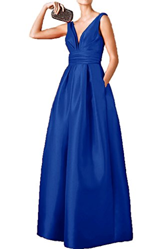 Victory Bridal - Robe - Trapèze - Femme Bleu - Bleu roi
